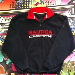 Nice Nautica Competition Spell out fleece.